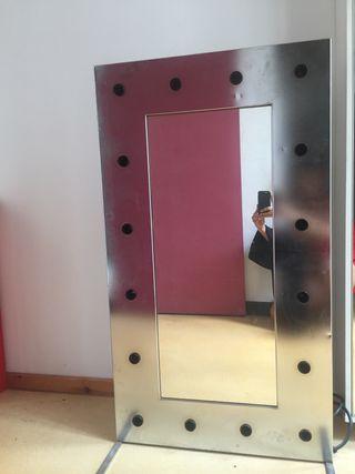Espejo camerino plateado