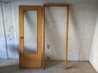 puerta interior acristalada