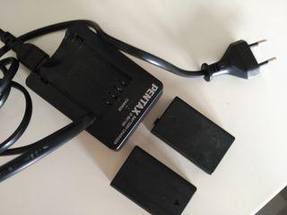 Cargador de baterias y baterás cámara fotos Pentax