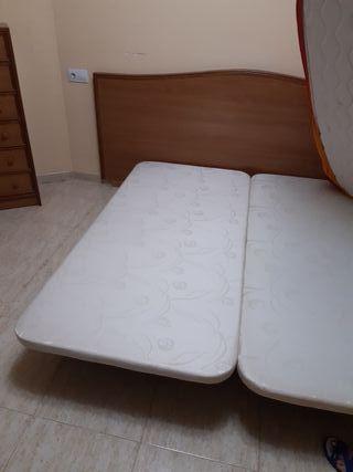 cabecero más bases de cama