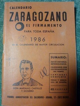 Calendario zaragozano del año 1986