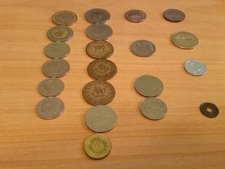 Lote 21 monedas África y Asia