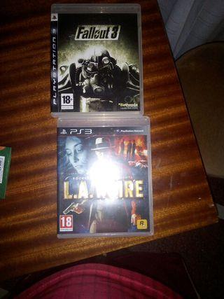 Vendo videojuegos fallout y la noire