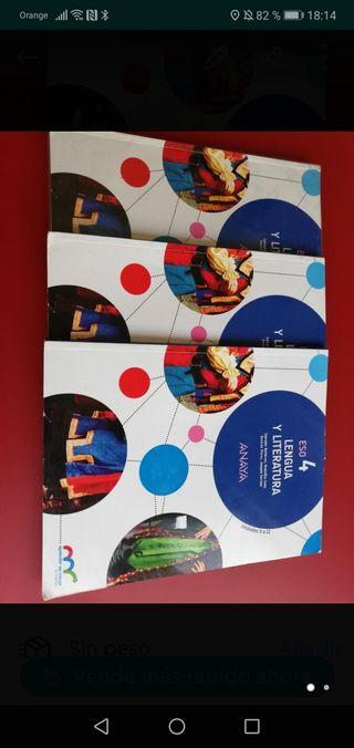 Libros LENGUA Y LITERATURA 4ESO, editorial ANAYA