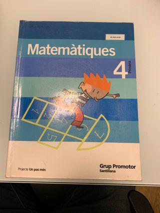 Libro Matemàtiques 4 Primària