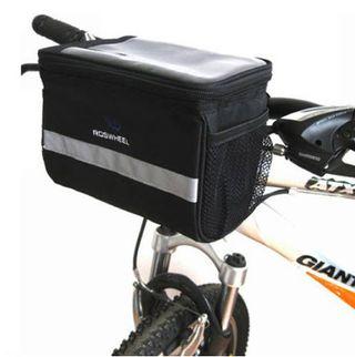 Alforjas manillar delanteras bicicleta frontal