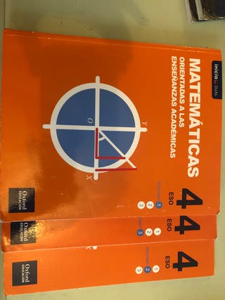 Libros matemáticas 4 ESO ed.Oxford