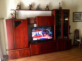 Mueble madera maciza, mesa y 6 sillas