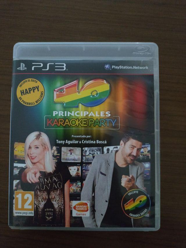 Videojuego 40 principales karaoke party PS3