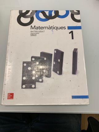 Libro Matemàtiques 1er Batxillerat (Mc Graw Hill)