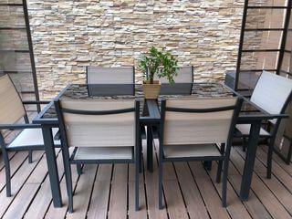 Muebles jardín (mesa + 6 sillas)