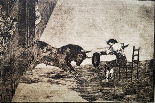 Lámina Temeridad de Martincho de Tauromaquia Goya