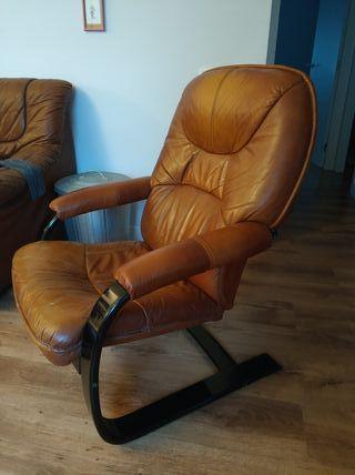 sillón Vintage de piel