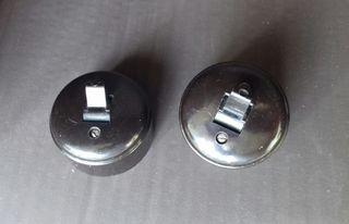Pareja de interruptores de baquelita