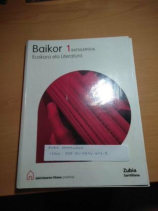 libro de euskera primero de bachillerato