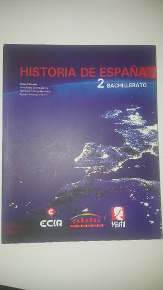 libro de historia de España 2 de bachillerato