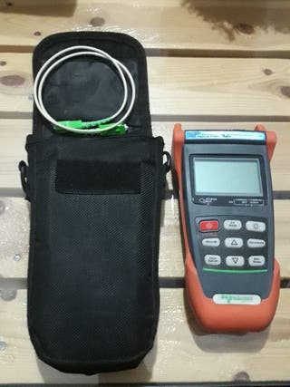 Medidor de fibra fibra óptica y video