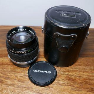 Objetivo Zuiko 85mm f2 Olympus OM