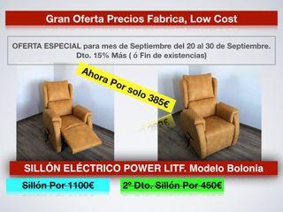 Liquidación SILLÓN ELÉCT.POWER LITF. Mod. BOLONIA