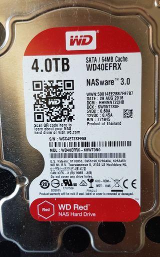 Disco Duro WD RED 4 TB para NAS