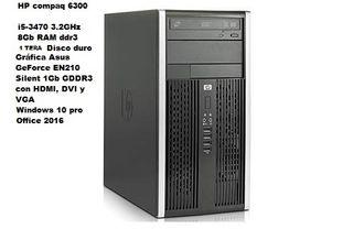 Ordenador torre sobremesa HP compaq 6300