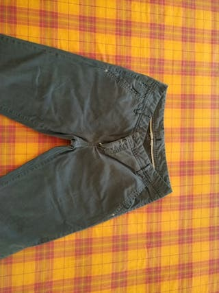Pantalón largo azul marino Massimo Dutti
