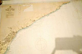 Carta de navegación del río Llobregat a Tossa.