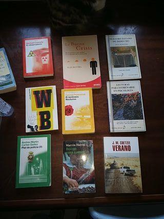 lote 9 libros