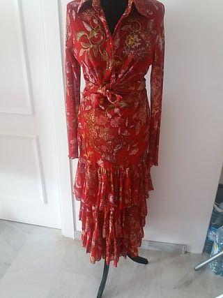 Falda y blusa Flamenco style