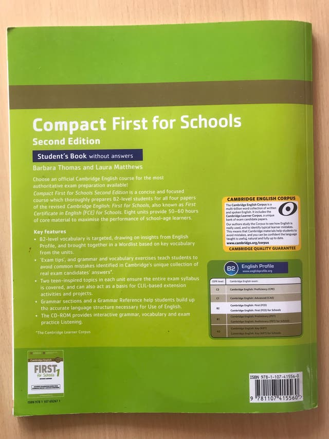 Compact First of schools- Cambrige English