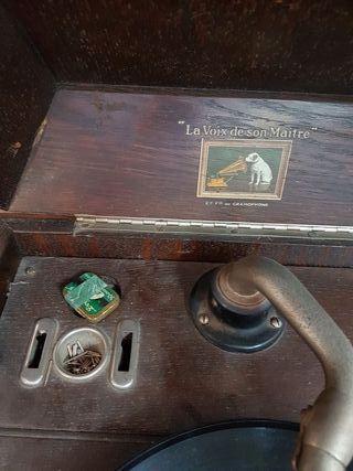 gramofono la voz de su amo muy antiguo años 1880