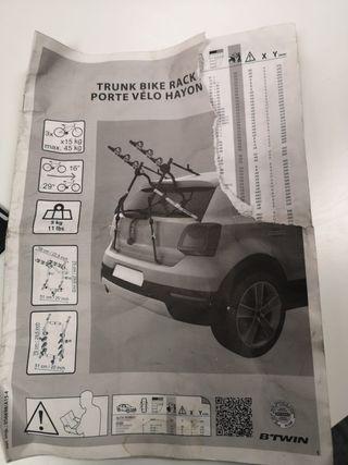 Portabicicletas para coche
