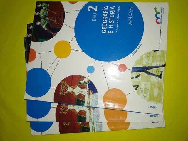 3 libros de geografía 2° eso