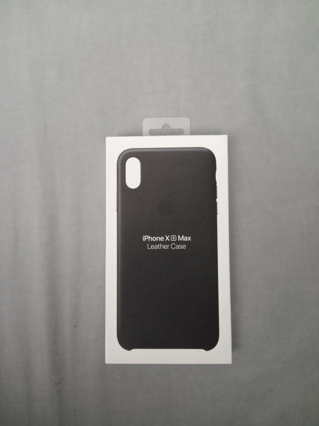 Funda iPhone XS Max Negra Cuero original