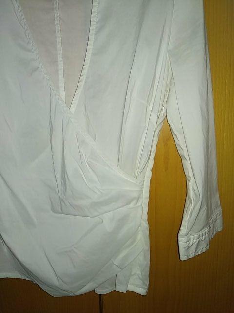 Blusa Blanca cruzada chica. Talla M