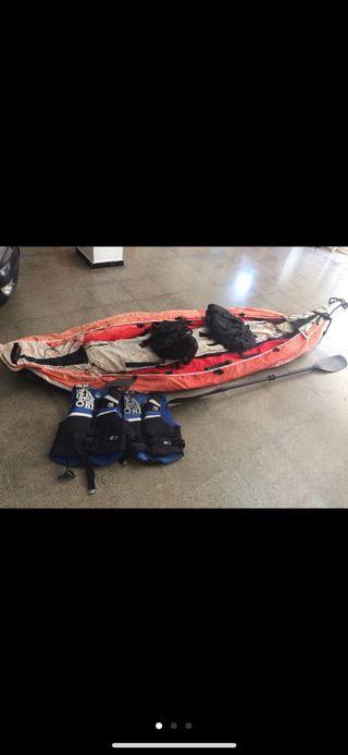 Kayak hinchable doble para 2 personas