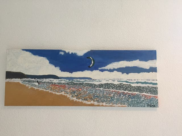 Watergate bay Acrylic painting