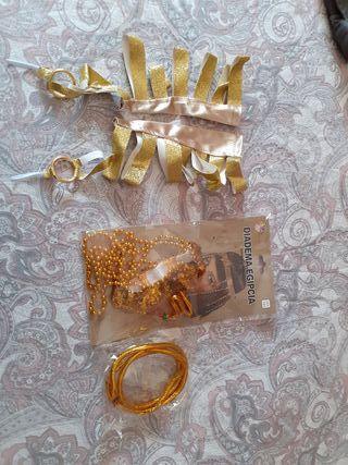pulsera , brazalete y diadema egipcia
