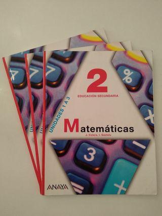 Libros de Matemáticas 2ESO Anaya
