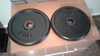 Discos pesas 2 x 5 kg