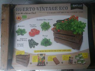 Huerto ecologico vintage