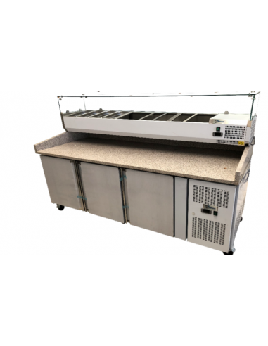 Mesa refrigerada+ vitrina ingredientes 2025700100