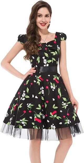 vestido Vintage de Mujer. Años 50