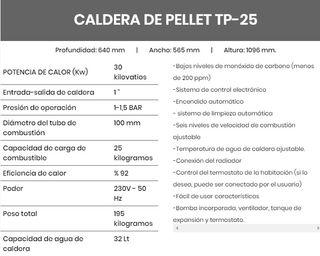 CALDERA DE PELLET TP-25