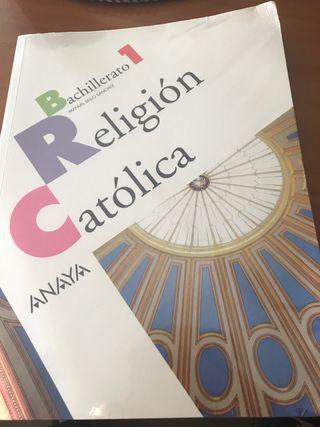 Libro de religión 1 bachillerato editorial ANAYA.