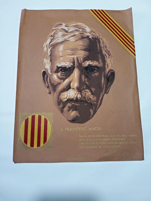 FRANCESC MACIA 14 D´ABRIL 1931 SERIGRAFIA ALUMA