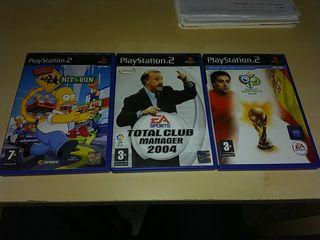 3 juegos PS2