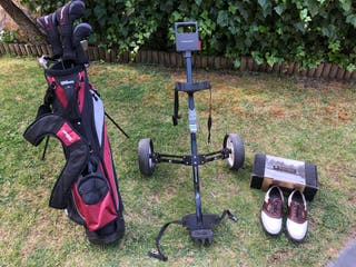 GOLF Set de palos Wilson+bolsa+carro+zapatos