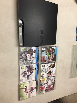 Play Station 3 con videojuegos FIFA