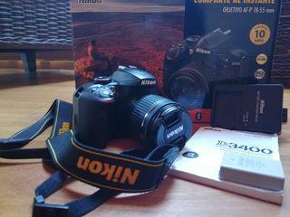 Nikon 3400D con un año de antigüedad